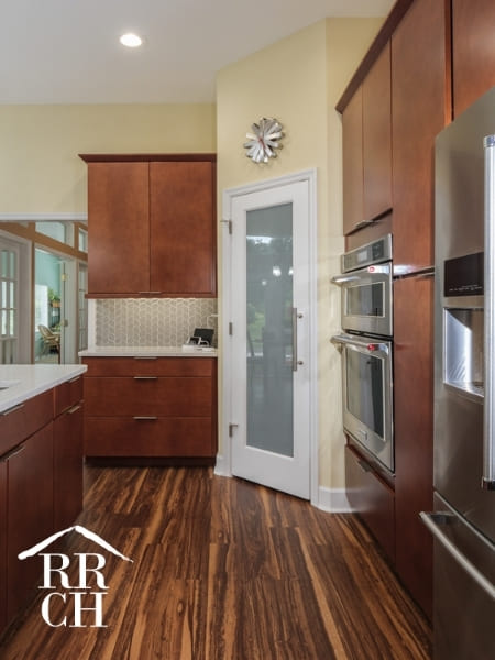 Kitchen Remodel with Walk-In Pantry and Modern Drawer Pulls | Robinson Renovations and Custom Homes