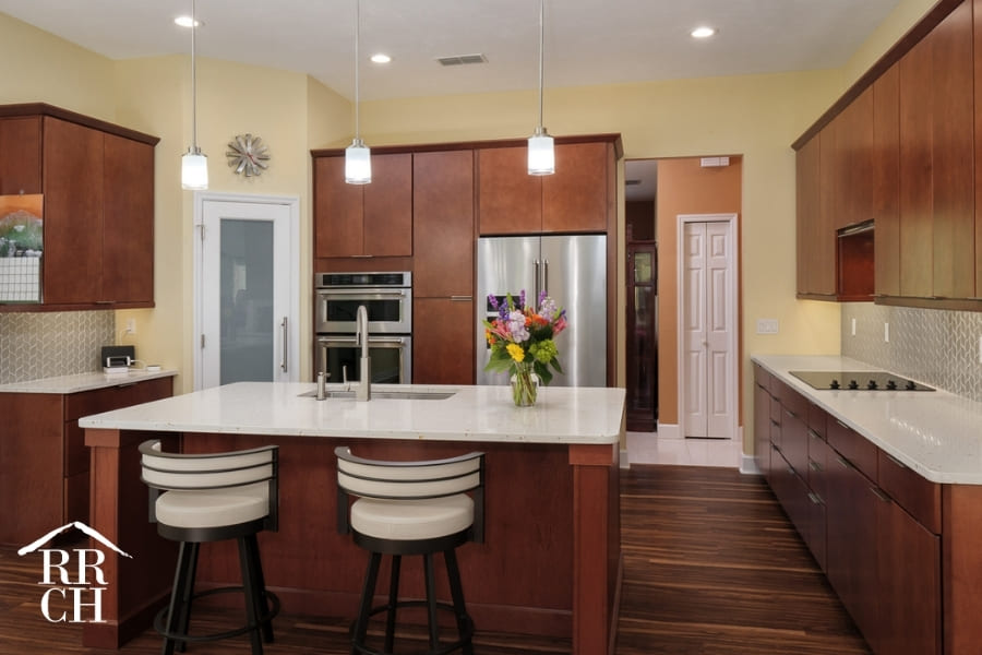 Large Kitchen with Eat-In Island and Walk-In Pantry | Robinson Renovations and Custom Homes