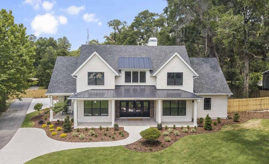 Fletcher Park Lot 5 Exterior 2 of Modern Farmhouse Custom Home in Gainesville, FL