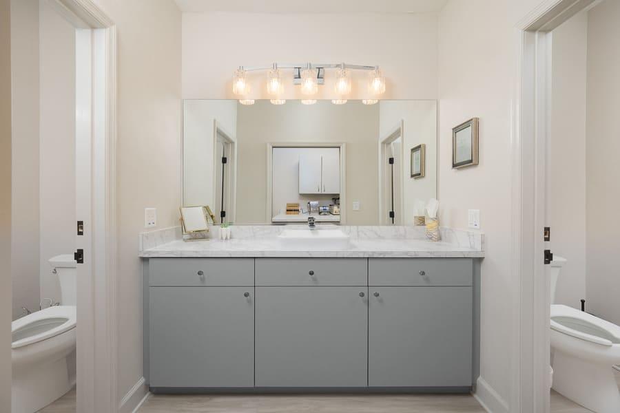 Dentist Office Commercial Renovation Bathroom Vanity in Florida by Robinson Renovation & Custom Homes