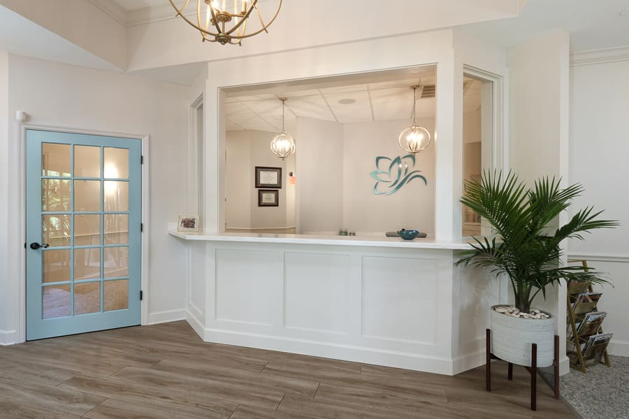 Dentist Office Commercial Renovation Reception Area in Florida by Robinson Renovation & Custom Homes