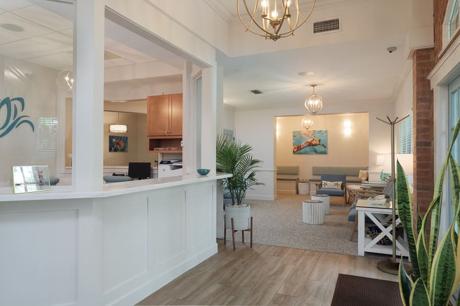 Dentist Office Commercial Renovation Reception Entrance in Florida by Robinson Renovation & Custom Homes