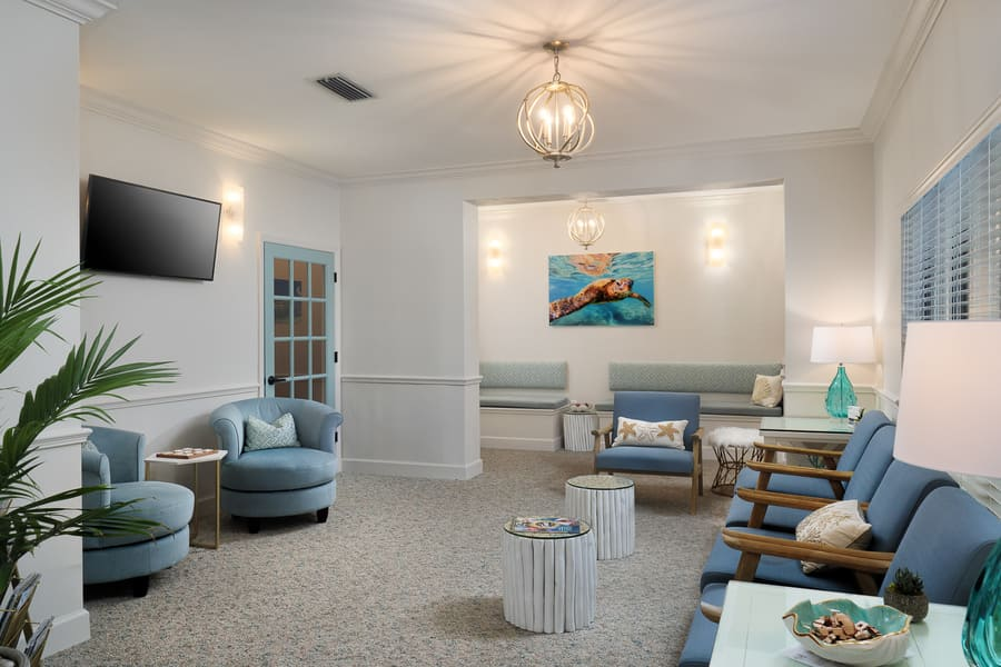 Dentist Office Commercial Renovation Seating Area in Florida by Robinson Renovation & Custom Homes