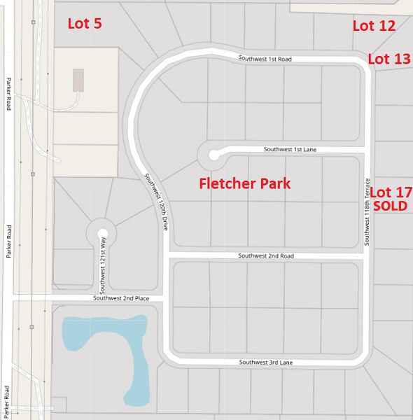 Fletcher Park Lot Map Only